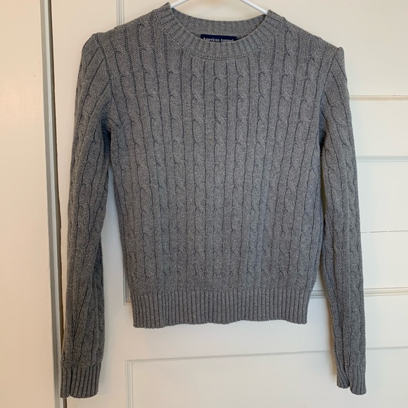 American Apparel Sweaters - American apparel grey cable knit sweater